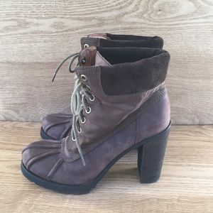 Lucky Brand Laverne Distressed Lace up Boots